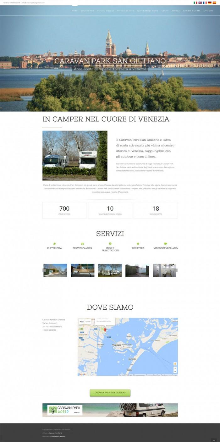 Area sosta camper a Venezia