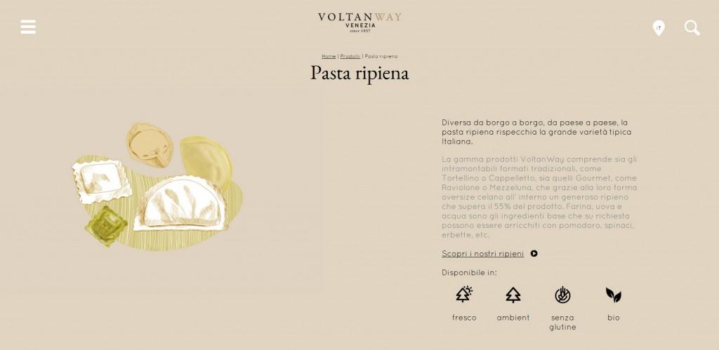 Supporto per il nuovo sito pastificio Voltan