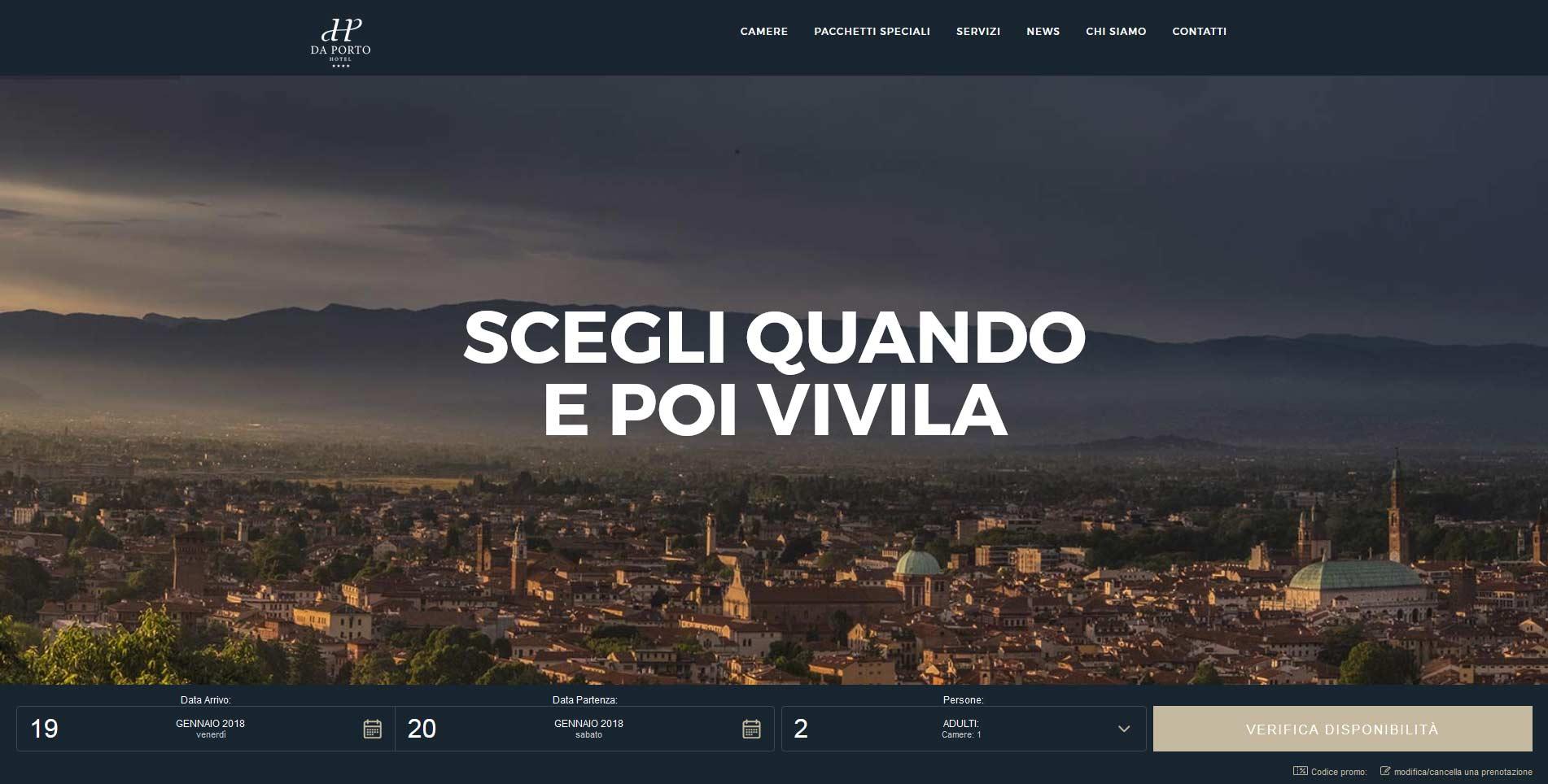 Sito web Hotel Da Porto